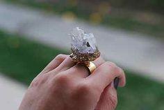 DIY Gilded Geode Rings
