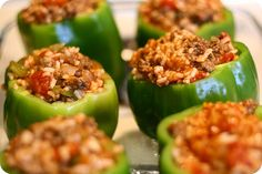 beef stuffed bell peppers.