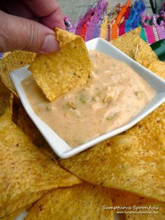 ... Blanco {Mexican White Cheese Dip} ~ Sumptuous Spoonfuls #dip #recipe