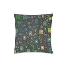 Pac Video Game Men Custom Zippered Pillow Case 16 Cushions, Pillows, Video Game, Pillow Cases, Twins, Zipper, Games, Throw Pillows, Cushion