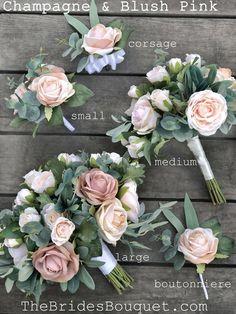 Silk Bridal Bouquet, Blush Bouquet, Blush Flowers, Bridal Flowers, Flower Bouquet Wedding, Floral Wedding, Small Bouquet, Flower Girl Bouquet, Silk Wedding Bouquets