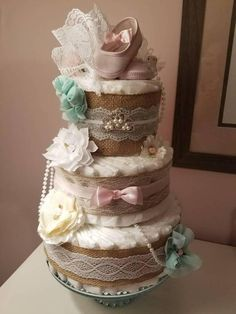 This is a high-end chic, practical nursery or party decoration rolled into one gift! This Cake Is One of a Kind. I have enough ingredients to make two of these cakes. If this is your cake grab it now! What a unique and complete gift set for baby and new parents. More totally