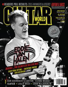 Eddie Van Halen smiles a lot when he's playing guitar.  That smile remains there constantly, whether he's doing soundcheck or performing onstage, and it's a genuine expression of happiness and joy. Or perhaps it's more accurate to describe Ed's smile as an expression of