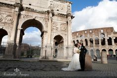 Couple Portrait at the Coliseum in Rome Italy Wedding Photographer Anna Nersesyan - Cinderella Images