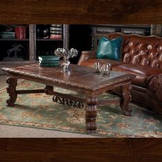 A true hand carved master piece! This amazing coffee table measures W X D X Sectional Sofa With Recliner, Leather Recliner, Buffet Console, Reclining Sofa, Home Living Room, Home Furnishings, Teak, Hand Carved, Dining Table