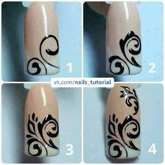 Semi-permanent varnish, false nails, patches: which manicure to choose? - My Nails Swirl Nail Art, Nail Art Diy, Easy Nail Art, Diy Nails, Fancy Nails, Pretty Nails, Nail Art Arabesque, Lines On Nails, Creative Nails