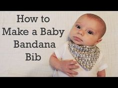 Making this for Baby Carter! Love it!! How to Make a Baby Bandana Bib - DIY - YouTube