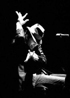 Tom Waits by David Corio (1981) via Black Velveteen.