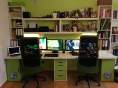 Ikea Doubledesk Workspace