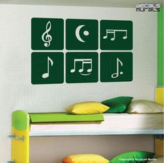 Wall decal MUSIC NOTES Decor stickers for children nursery kids by Decals Murals. $27.99, via Etsy.