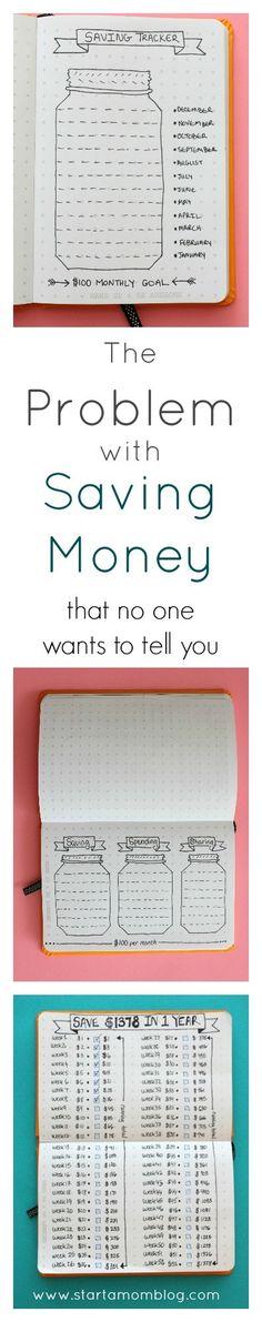 The Problem With Saving Money - Start a Mom Blog