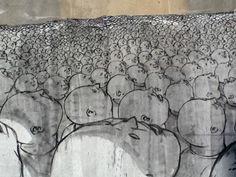 Blu is an Italian, internationally acclaimed street artist who has built a strong reputation through very large murals he has created around the . Rust Never Sleeps, Best Street Art, Italian Artist, Street Artists, Urban Art, Graffiti, Tapestry, Illustration, Prints