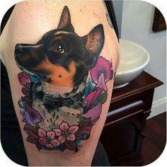 Australian cattle dog tattoo