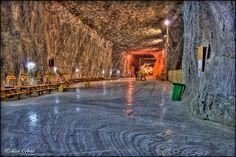Parajdi sóbánya Caves, Salt Cave, Budapest, Landscape, Ceiling, Cave