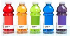 Pantone drink labels