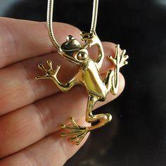 Tree Frog Pendant  TiKi  Tree Frog Jewelry  by DawnVertreesJewelry, $229.00