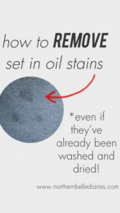 How to Remove Set In Oil Stains or Grease Stains