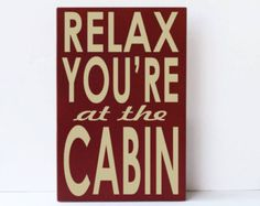Cabin Rules Cabin Decor Mountain Rustic Woodsy by vinylcrafts