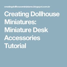 How to make a miniature plate of polymer clay. Decorate the plate with acrylic paint. Glaze after baking, with EberhardFaber (fimo) glaze. Miniature Furniture, Dollhouse Furniture, Dollhouse Tutorials, Miniature Tutorials, Mini Desk, Desk Supplies, Ag Dolls, Desk Accessories, Dollhouses