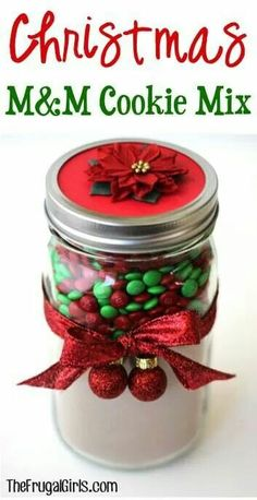 Xmas cookie in a jar