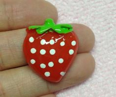 5pc Red Strawberry 20mm Flat Back Resins Cabochons Cellphone Case Decoration KKL2 by PEPPERLONELY for $2.75