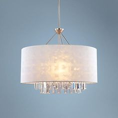 "Piccadilly 5-Light Nickel and White 22 1/2""W Pendant Light"