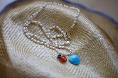 Pearl&Turquoise,Cranelian,Sapphire | koaniani