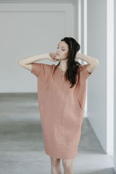 Lininė suknelė No. 15S10 | MOTUMO
