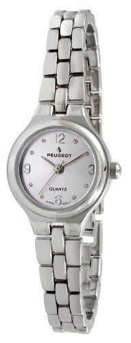 Peugeot Women's 1015PR Silver-Tone Bracelet Watch Peugeot. $45.99. Accurate Japanese-quartz movement; durable mineral crystal. Limited lifetime warranty. Water-resistant to 99 feet (30 M). Self adjustable removable link included for easy sizing. Free lifetime battery replacement from Peugeot. Save 36% Off!