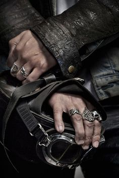 Men's Leather Jackets: How To Choose The One For You. A leather coat is a must for each guy's closet and is likewise an excellent method to express his individual design. Leather jackets never head out of styl Distressed Leather Jacket, Leather Men, Leather Jackets, Rain Suit, Biker Rings, Biker Style, Jacket Style, Charles Bukowski, Rings For Men