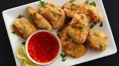The flavors of Thailand in a crispy bite-sized chicken nugget!