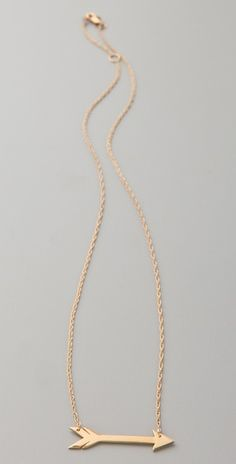 Arrow delicate necklace By Jennifer Zeuner / Tip: Stella & Dot carries same design, affordable version (: