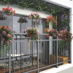 Apartment Balcony Garden, Apartment Balconies, Terrace Garden, Balcony Design, Balcony Ideas, Porch Privacy, Closet Layout, Outdoor Living, Exterior