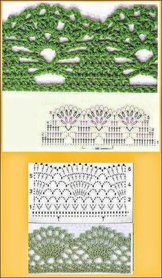 Patrones de puntos para tejer al crochet variados