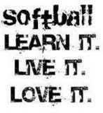 SOFTBAL  LEARN IT  LIVE IT  <3 IT