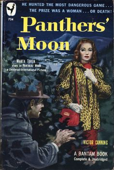 """OK, the title says """"Panther's Moon,"""" but she's wearing a leopard skin coat. I'm confused."""