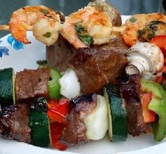 "Steak  Vegetable Kabobs: ""This is one of my favorite type of meals! Cooked outdoors, and the meat and veggies are ready altogether!"" -Breezermom"