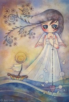 """""""Anchor"""" by juriu (thank you Sweet ShellyGirl ♥ for sharing this sweet Angel of the Ocean with me ♥ she's beautiful."""