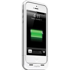 nice Mophie Case | mophie Juice Pack Air Charging Case for Apple iPhone 5 - White (1700mAh)