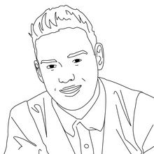 Famous people, One direction and Coloring pages on Pinterest