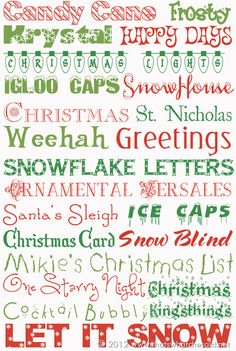 22 Free Holiday Fonts - That's What {Che} Said. Holiday Fonts, Christmas Fonts, Christmas Printables, Christmas Holidays, Christmas Crafts, Xmas, Christmas Lights, Holiday Cards, Scandinavian Christmas