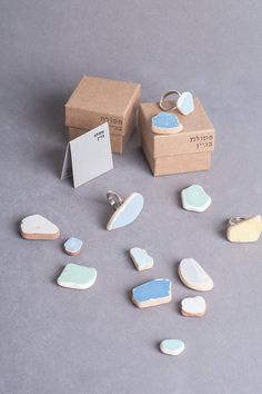 Blue Jeans Stone // One Off Rings collection // European Size 52 // Construction Waste // ceramic stone // silver ring. $69,00, via Etsy.