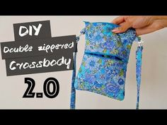DIY Double Zippered Crossbody - YouTube