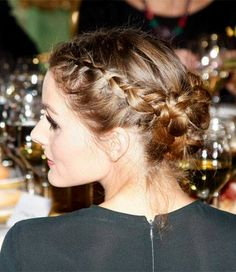 Olivia Palermo in braided updo #Hairstyle