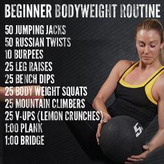 Beginner Bodyweight Routine - Tribesports