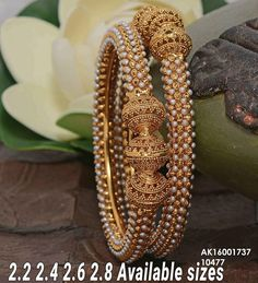 Antique bangles INR 599 / pair plus shipping Direct message us for orders and queries Online payment mode (No COD) . Gold Bangles Design, Gold Jewellery Design, Gold Jewelry, Fine Jewelry, Stylish Jewelry, Designer Jewelry, Ring Set, India Jewelry, Temple Jewellery