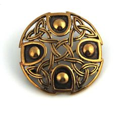 Vintage brooches Orange Gold Colored Bronze Norse Trinity Celtic Knot Filigree Thailand Jewelry ** Read more at the image link.