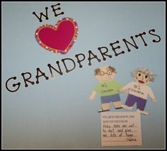 students create grandparents from construction paper and write why their grandparents are special to them