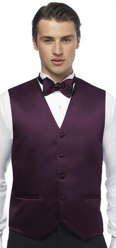 Weddington Way's 'Dessy' tux vest in Aubergine. it matches my favourite flowers :D