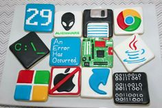Jessica Harris:  computer geek cookies.   I love these!